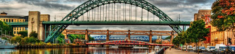 Bridges in Newcastle upon Tyne, UK