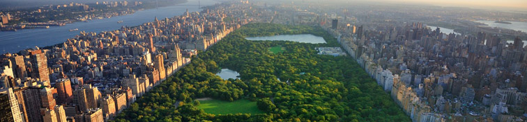 Aerial view of Central Park in Manhattan, New York