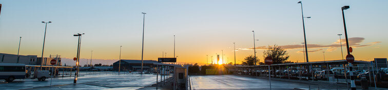 Christchurch Airport during sunrise