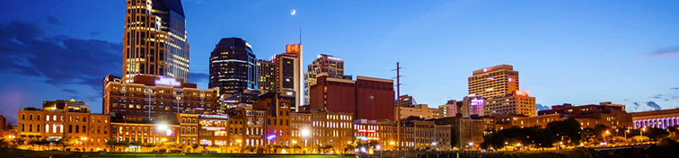 Downtown Nashville, Tennessee city skyline