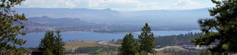 A view of the bridge over Okanagan Lake between West Kelowna and Kelowna