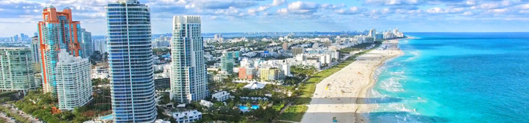 Miami South Beach aerial view