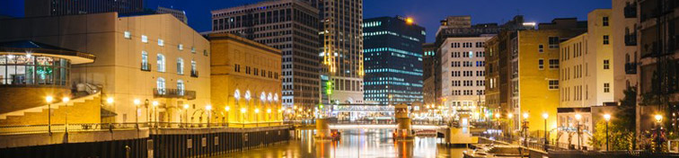 The Milwaukee River by night