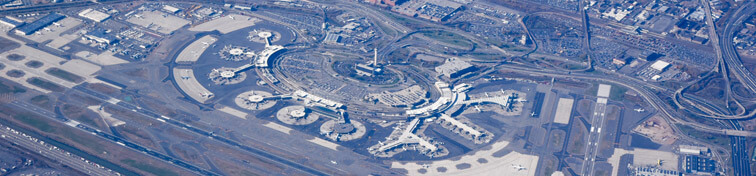 Aerial view of Newark airport