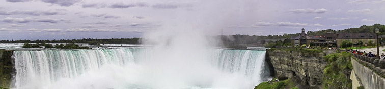 Canadian side of Niagara Falls in summer