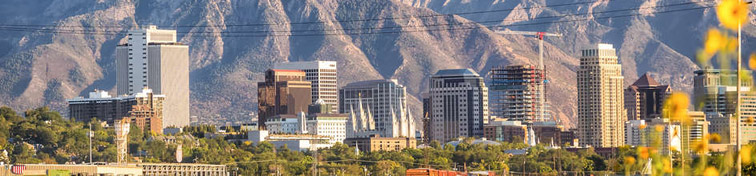 Salt Lake City and Utah's mountains in the background