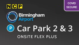 Birmingham Car Park 2 & 3 - Onsite - Flexible booking
