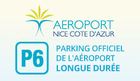 P6 Long term Official Airport parking - On Site - Covered - Nice