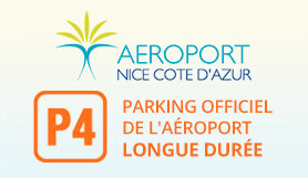 P4 Long term Official Airport parking - On Site - Uncovered - Nice