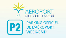 P2 Weekend - Official Airport parking - On Site - Nice