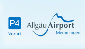 P4 Budget Parkterminal - On Site - Uncovered - Allgäu Airport